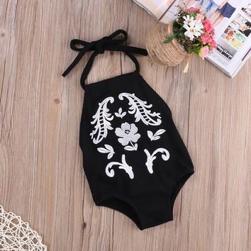 Summer romper suits embroidered cotton