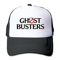 Unisex Ghostbusters Adjustable Trucker Hat Black