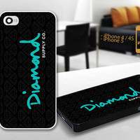 PCFH014 diamond supply co logo - Custom Design For iPhone 5 Plastic And iPhone 4 / 4S Case Cover - Black / White Cases