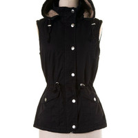 Cozy Fur Lined Vest - Black (S-XL)