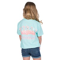 Youth Birds of a Feather Tee in Ocean Palm by Lauren James