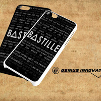 Bastille Lyric Art Samsung Galaxy S3 S4 S5 Note 3 , iPhone 4(S) 5(S) 5c 6 Plus , iPod 4 5 case