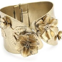RAIN Vintage Inspired Gold Flower Cuff Bracelet: Jewelry: Amazon.com