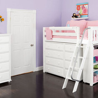 Grace Elizabeth Twin Size Mid High Storage Loft