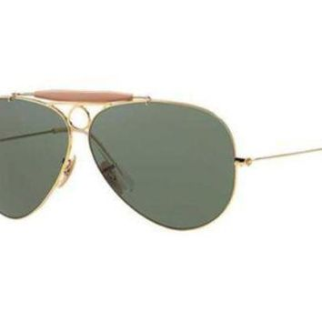 Kalete NEW Genuine Ray Ban RB3138 001 62 Arista Gold Mens Womens Sunglasses Glasses