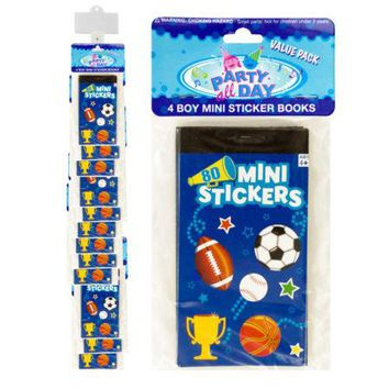 Boy Sports Mini Sticker Book Clip Strip
