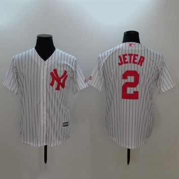 Men's MLB  Buttons Baseball Jersey  HY-17N11Y21D