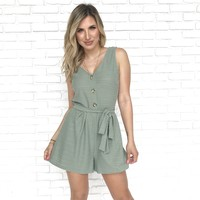 Keeping Up With You Sage Romper