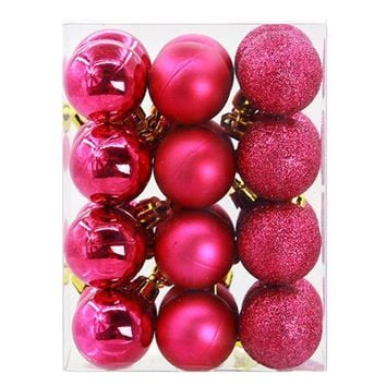 24pcs 3CM Christmas Tree Berry pendant balls Shinny/Polish hanging balls gift decoration Xmas party home ornament ball Baubles