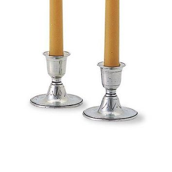 Match Pewter Short Candlestick, Pair