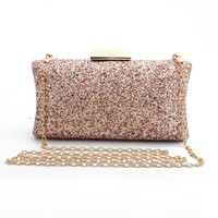 2018 Women Evening Bag Luxury Muticolors Wedding Party Bag Sequins Chain Day Clutches Female Crystal Bling Gold Clutch Bag Purse
