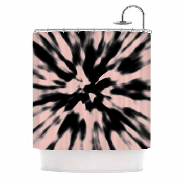 "Nika Martinez ""Tie Dye Rose"" Pink Abstract Shower Curtain"