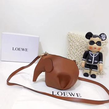 """LOEWE"" New Shopping Leather Tote Classic Elephant Package Shoulder Bag"