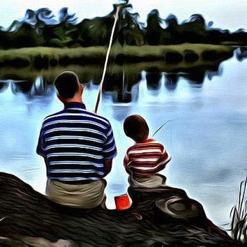 5D Diamond Painting Father and Son Fishing Kit