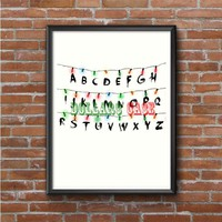 Stranger Things Alphabets Photo Poster