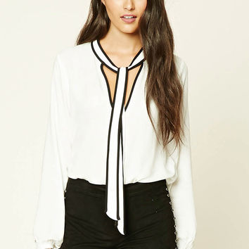 Contemporary Tie-Neck Top