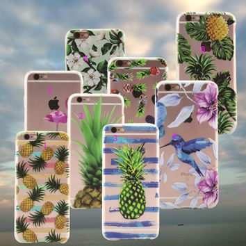 Giant Pineapple Printed iPhone 7 7Plus & iPhone 6s 6 Plus Case Cover +Gift Box-86