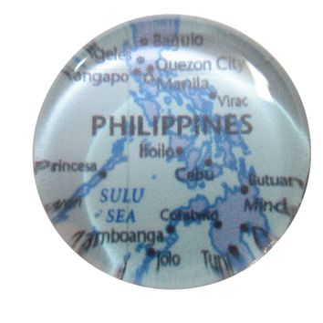 Philippines Country Map Pendant Magnet