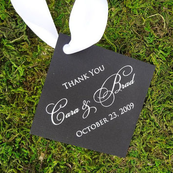 """100 Personalized """"Thank You"""" Favor Tags"""