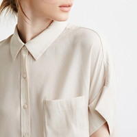 Contemporary Boxy Cuffed Sleeve Shirt | Forever 21 - 2002247277