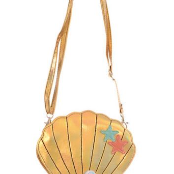 Shimmering Sea Shell Crossbody Purse - PLASTICLAND