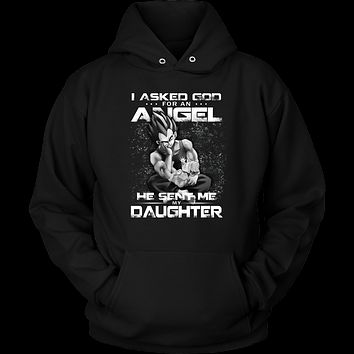 Super Saiyan - God sent me my daughter - Unisex Hoodie T Shirt - TL01299HO