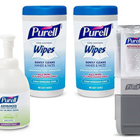 Purell 9120-K2-EC Classroom Teacher's Kit with Foam Hand Sanitizer, Wipes and Everywhere System Starter Kit