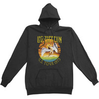 Led Zeppelin Men's  US Tour 1975 Hooded Sweatshirt Black