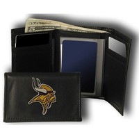 Rico Minnesota Vikings Embroidered Tri Fold Wallet