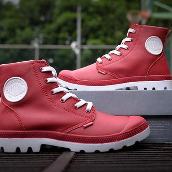 Palladium Pampa Hi Vl Boots Red For Women & Men