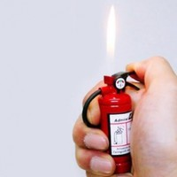 Fire Extinguisher Design Flame Lighter with LED Flashlight Red:Amazon:Everything Else
