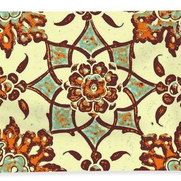 An Ottoman Iznik Style Floral Design Pottery Polychrome, By Adam Asar, No 13b - Bath Towel