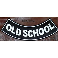 OLD SCHOOL PATCH ROCKER BACK PATCH FOR MOTORCYCLE BIKER VEST JACKET