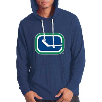 Vancouver Canucks Suede Crest Long Sleeve Hoodie
