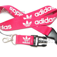 FREE SHIPPING Pink  Sport Brand  lanyard keychain logo  cell phone neck straps