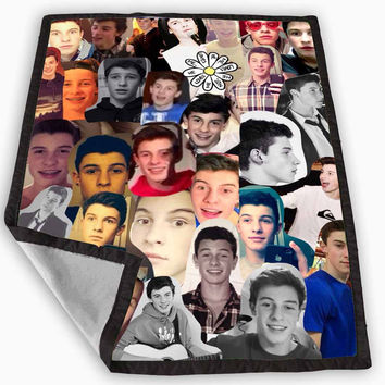 Shawn Mendes Collage Blanket for Kids Blanket, Fleece Blanket Cute and Awesome Blanket for your bedding, Blanket fleece **