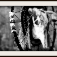 Modern abstract print, Native totem composition Fine Art Photography, Tribal, primitive, dream catcher art print 8 x 12''