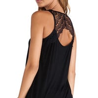 BB Dakota Mindy Lace Tank in Black