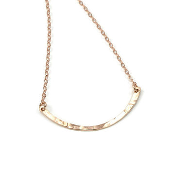 Arc Rose Gold Necklace