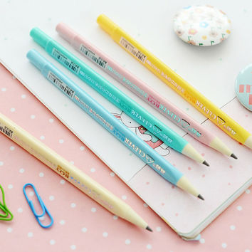 F52 Cute Simple Automatic Core Out Pencils Continue Writing School Supply Student Stationery Papeleria
