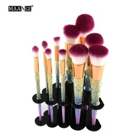 10 Holes Makeup Brushes Acrylic Holder stand for Mermeaid Brushes Hanging Display Showing Dryer Organizer Cosmetics Brush Shelf
