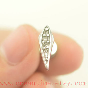 Tragus Earring Jewelry,little tragus piercing jewelry,diamond ear Helix Cartilage jewelry,girlfriend earring,oceantime
