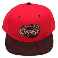 Los Angeles Clippers Brown Winter Suede Strapback