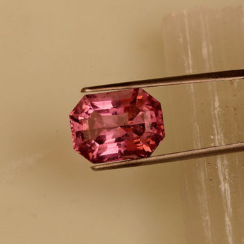 Pink Tourmaline Radiant Cut Over 8 Carats October Birthstone for Gemstone Engagement Ring or Fine Jewelry