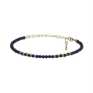 Still Surprise You Choker in Lapis and Gold