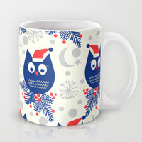 Lucky Stars Holiday Collection Owls Mug by Nathalie Robbins