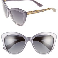 Women's Dolce&Gabbana 56mm Polarized Sunglasses - Grey