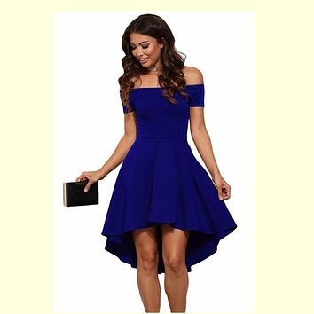 Summer Dress -  Off Shoulder Party Dress