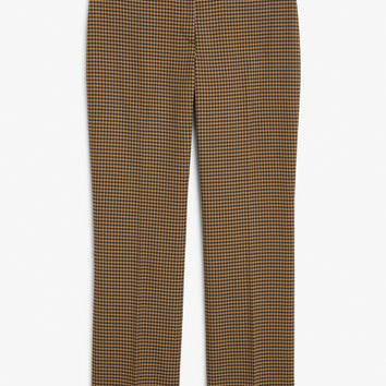 Dressy trousers - Houndstooth - Trousers & shorts - Monki DK