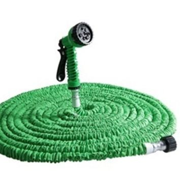 25ft/Expandable Garden Hose Water Pipe Spray Gun Nozzle [6269757380]
